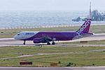 Peach Aviation, MM197, Airbus A320-214, JA813P, Departed to Kagoshima, Kansai Airport (16565585734).jpg