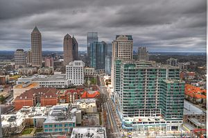 Peachtree Street - Peachtree Street as it travels through Midtown