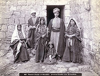 Palestinian family in early 1900s