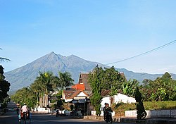 Mount Merbabu viewed from Salatiga.