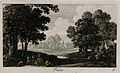 People eating in the shade beneath a tree; representing June Wellcome V0007628EBR.jpg
