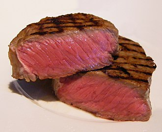 Doneness - Entrecôte cooked to rare