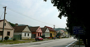 Pernek - Main street typical houses