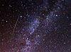 Perseid meteor and Milky Way in 2009.jpg