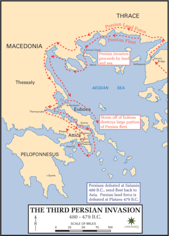The Persian invasion of Greece in 480–479 BC