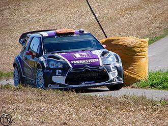2011 World Rally Championship - Peter van Merksteijn Jr. drives at the Rallye Deutschland.