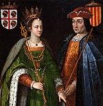 Petronila de Aragón, hija legítima de los reyes de Aragón y Ramón Berenguer IV, heredero del condado de Barcelona.