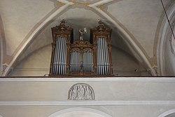 Pfarrkirche Trautmannsdorf interieur Orgel.JPG