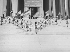 Photograph of Jefferson High School Marching Colonials Performing on the Steps of the National Archives Building on Constitution Day, 1974.tif