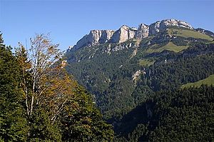 Schwende District - Mountains above Wasserauen