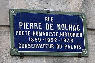 Pierre de Nolhac - Pierre de Nolhac street sign in Versailles