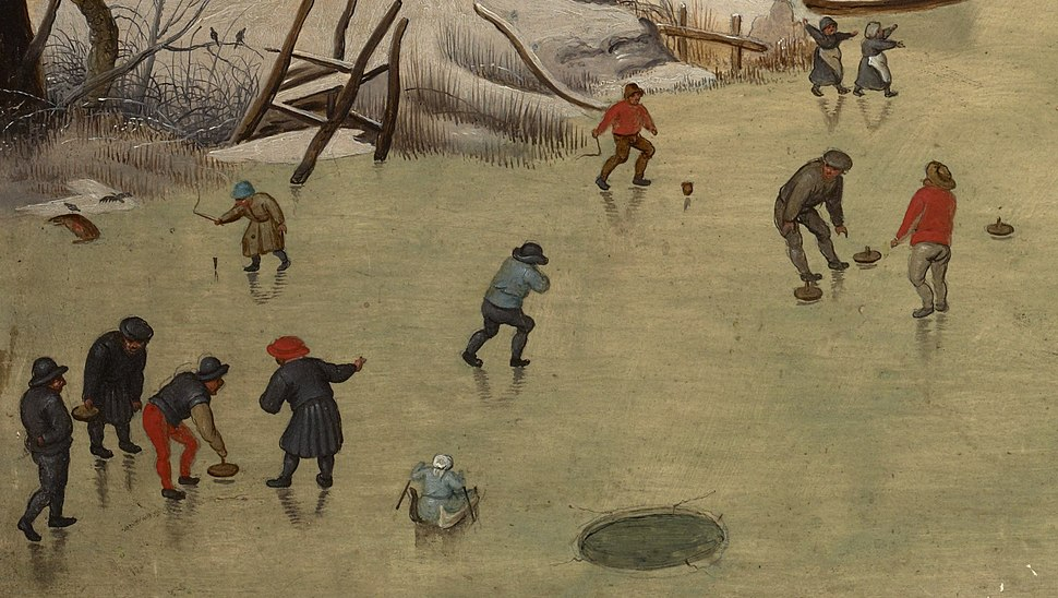 Pieter Brueghel de Jonge - Winterlandschap met vogelval (Brukenthal Museum) (curling crop)