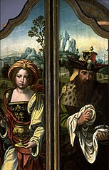 Triptych: (right wing) Mary Magdalen (left wing) Joseph of Arimathaea