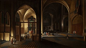 Pieter Neefs the Elder - Church interior