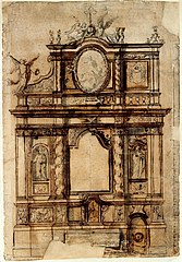 Design for an altar of Our Lady