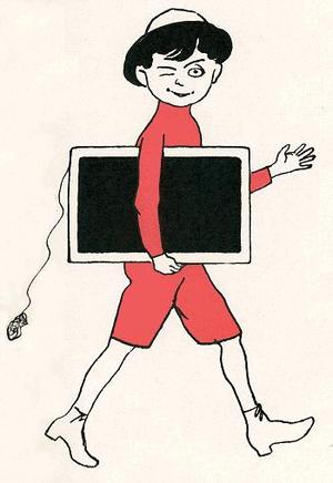 Chris van Abkoude - Pietje Bell, drawn by Jan Rinke in Chris van Abkoude's 1914 novel Pietje Bell of de logevallen van een ondeugenden jongen