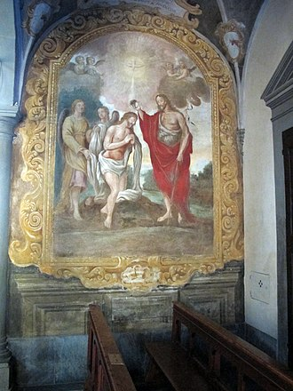 Anton Domenico Bamberini - Fresco in Pieve di Santa Maria Novella, in Marti neighborhood of Montopoli, Tuscany