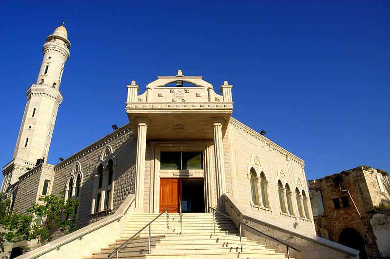 הכניסה הראשית של מסגד סלאח אל-דין