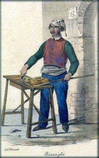 Pizza - A pizzaiolo in 1830