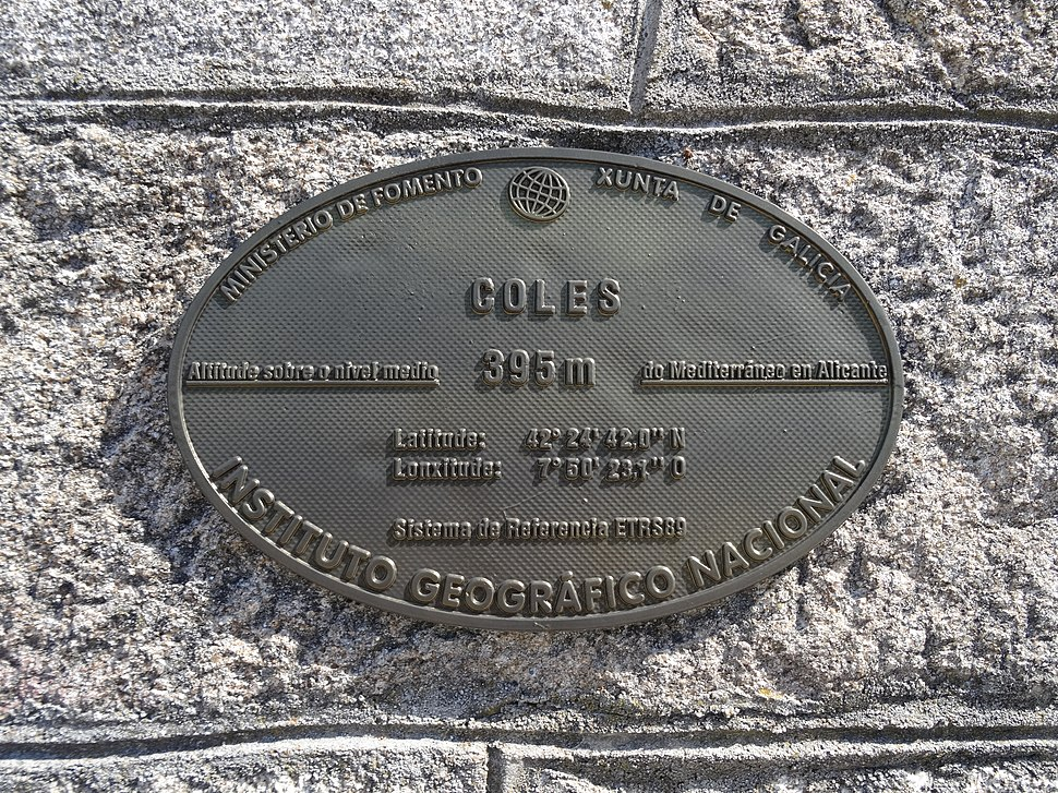 Placa altimétrica Coles