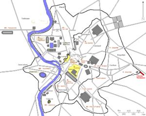 Circus Varianus - Location of the Circus Varianus in Ancient Rome