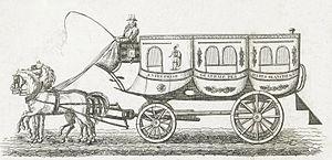 Horsebus - A Paris omnibus in 1828