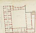 Plan du premier étage de la basse-cour du Petit Luxembourg, 1709 project var1 - Gallica 2011-09 (cropped).jpg