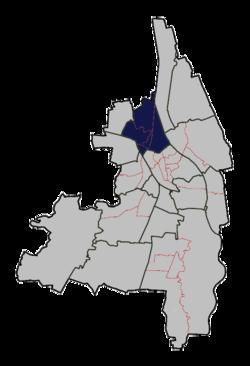 Lage des planungsraums oberhausen in augsburg