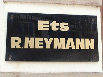 Etablissements René Neymann - Nameplate of Etablissements René Neymann factory