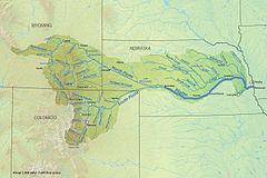 En mapa del río Platte