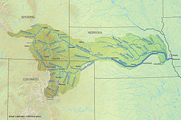 Platte River Wikipedia - Nebraska rivers map
