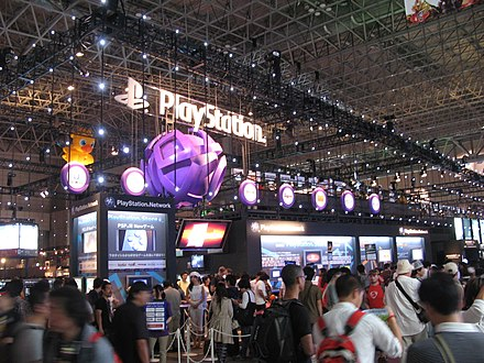 PlayStation booth at the Tokyo Game Show 2009 PlayStation booth, Tokyo Game Show 20090926.jpg
