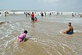 Playful People with Sea Waves - New Digha Beach - East Midnapore 2015-05-03 9832.JPG