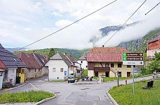 Plužna Place in Slovenian Littoral, Slovenia