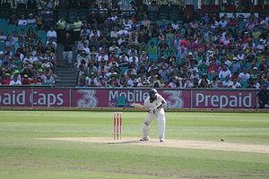 South African cricket team in Australia in 2008–09 - Hashim Amla batting in the Third Test at Sydney