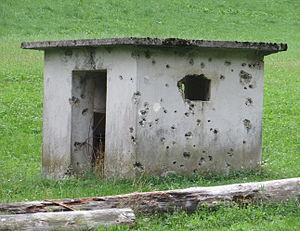 Podpleče - Interwar fortification in the hamlet of Tomažek