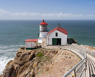 The Fog - Point Reyes Lighthouse, where many of Adrienne Barbeau's scenes were shot