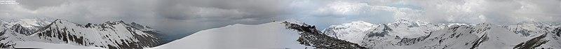 Panorama from (Golyam) Polezhan – 2851 m