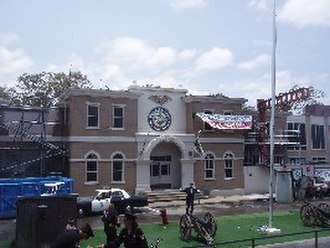 Warner Bros. Movie World - The former Police Academy Stunt Show, one of Movie World's opening day attractions.