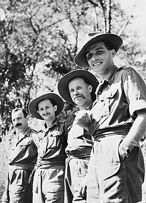 Gambia Regiment - Polish officers of the Gambia Regiment in 1945.