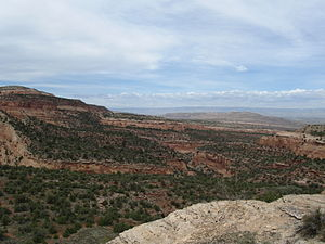 McInnis Canyons National Conservation Area - Pollock Canyon from south, MCNCA