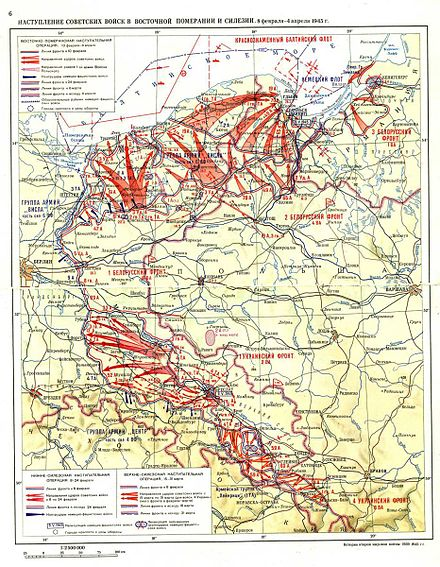 Pomeranian and Silesian offensives Pomerania and Silesia.jpg