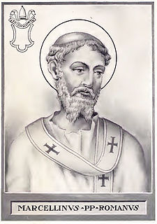 Pope Marcellinus Pope and bishop of Rome (tenure 296-304)