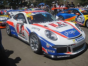 Chris Harris (journalist) - A Porsche 911 Carrera Cup car, similar to the Porsche 911 Carrera Cup that Chris Harris drove.
