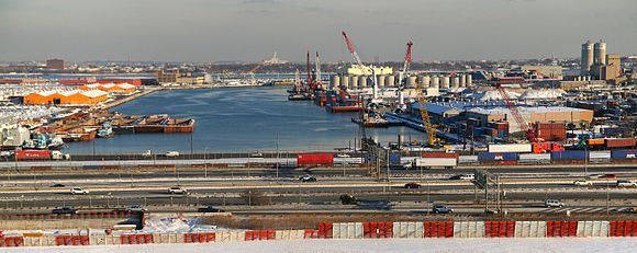 Port Newark with New Jersey Turnpike in foreground PortNewarkNJTurnpike.jpg
