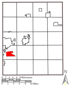 Location within Brimfield Township and Portage County