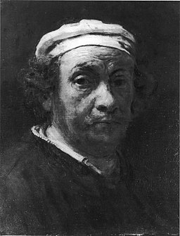 Portrait of Rembrandt van Rijn, studio of Rembrandt, c. 1660, unknown whereabouts