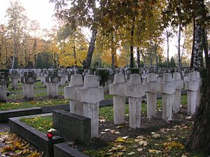 Powązki Military Cemetery - Graves of Polish soldiers who died in the 1944 Warsaw Uprising
