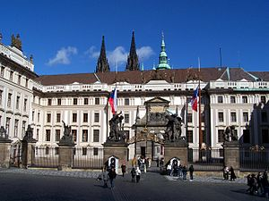 First courtyard of Prague Castle - The courtyard in 2008