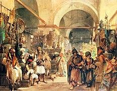 Preziosi - A Turkish Bazaar 1854